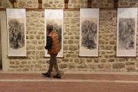 Les peintures à l'encre de Liu Zhibai sont accrochées salle François-Lods.