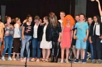 Les jeunes de l'option euro-théâtre.