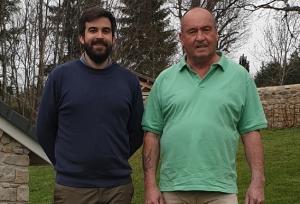 Lucas Rocher et Bernard Rechatin. Crédit DR issu de la profession de foi