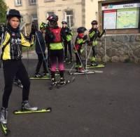 Grazac : en balade sur la voie verte en ski à roulettes