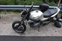 Riotord : le motard perd le contrôle et finit derrière la glissière de sécurité