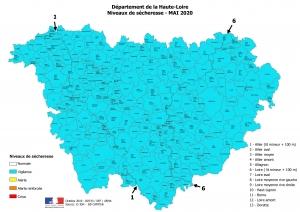 Sécheresse : la Haute-Loire déjà placée en vigilance