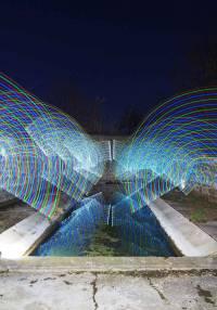 Chaspuzac : un expo de light painting à la bibliothèque