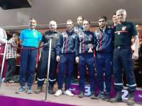 Quatre pompiers de Dunières au cross national dans l'Hérault
