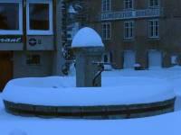 Fay-sur-Lignon : entre 80 cm et 1 mètre de neige dans le bourg