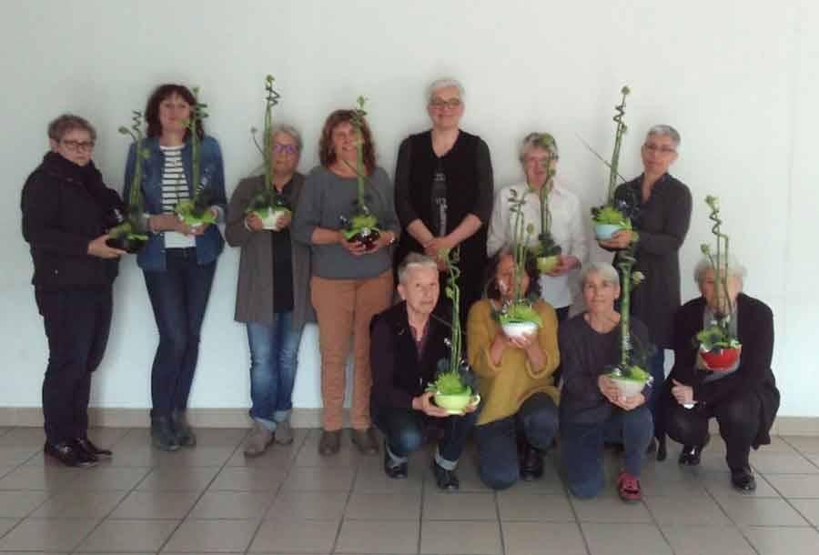 Tence : 19 participantes au dernier stage d'art floral