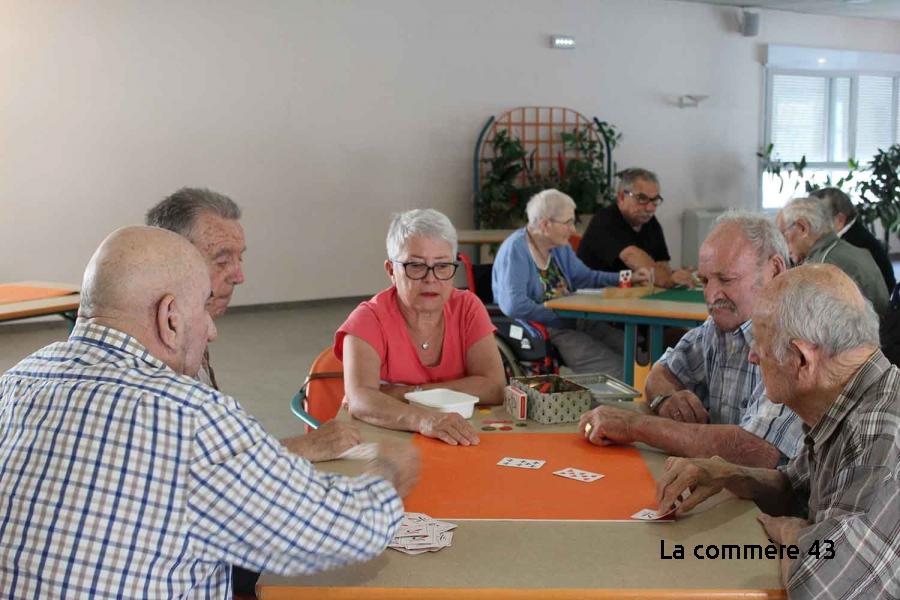 Yssingeaux : coinche et loto à l'hôpital avec les Ehpad de Retournac et Sainte-Sigolène