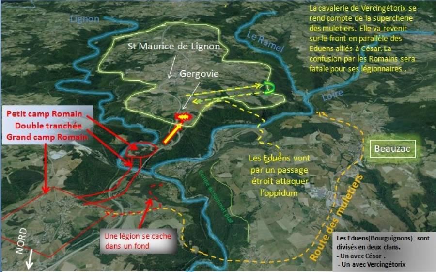 Baptiste Granjon a traduit son hypothèse sur une carte.