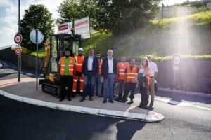 Le Puy-en-Velay : un giratoire temporaire testé au carrefour de l'avenue des Belges et Charles-Dupuy