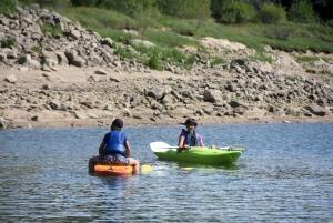 Des volontaires pour monter dans cette galère au lac de Lavalette