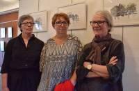 Trois artistes étaient présentes pour le vernissage samedi à La Boîte à soleils à Tence.