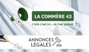 BLESLE : CESSION DE FONDS COMMERCIAL (RECTIFICATIF)