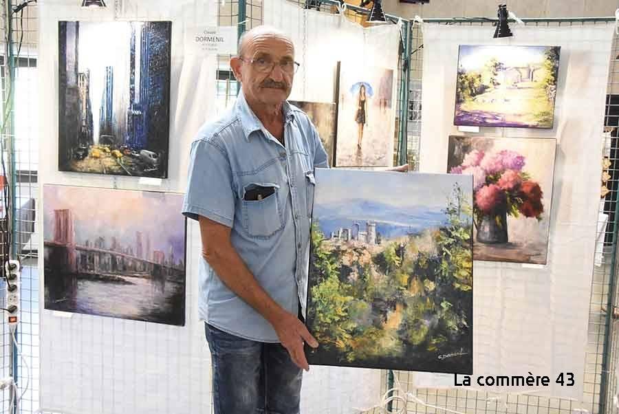 Claude Dormenil de Mézères reçoit le deuxième prix pour sa toile représentant Rochebaron.