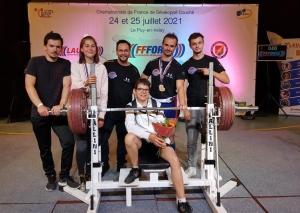 Deux médailles d'or pour Le Puy-en-Velay aux championnats de France de développé couché