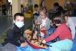 La ludothèque Cékankonjou intervient à l'école de Grazac