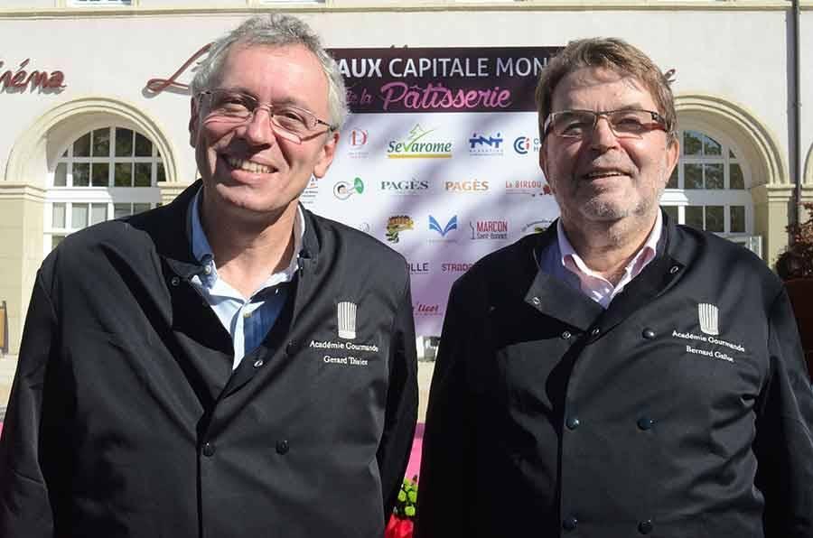 Gérard Trivier et Bernard Gallot, intronisés à l'Académie gourmande.