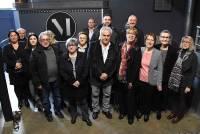 Les troupes fondatrices de cette association, réunies au Puy mardi en fin de matinée..