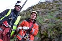 Quatre salariés d'Eiffage, spécialisés dans les travaux acrobatiques, interviennent pendant cinq semaines.