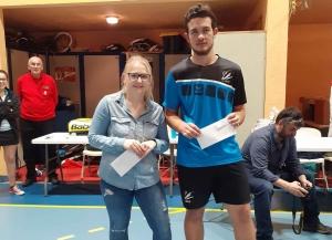 Anais EYRAUD et Anthony SOULIER Vices champions en mixte série 1