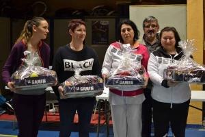 Christelle RAFFIER et Maryline GAUTHIER vices championnes en double dames série 2