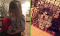 Victoire a appelé son nouveau chat... Miracle.