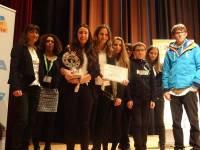 Les élèves ont reçu le prix de l'innovation.