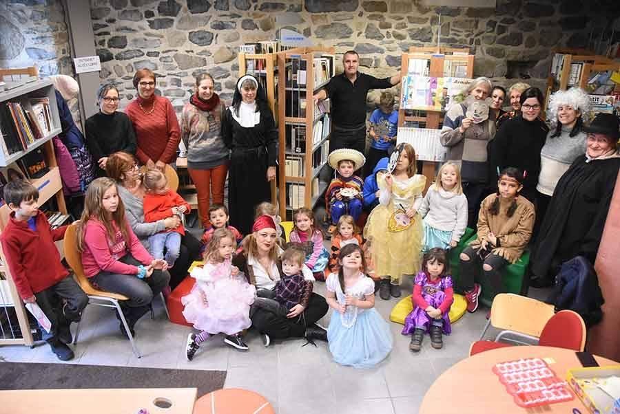 On a fêté Carnaval à la bibliothèque d'Araules